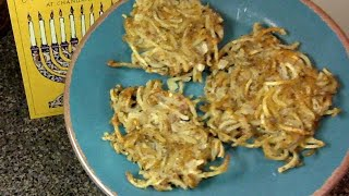 Spiralized Vegan Latkes
