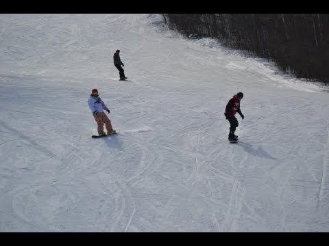 Snowboarding at Holiday Mountain, Manitoba 2013
