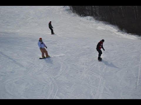 Snowboarding at Holiday Mountain, Manitoba 2013