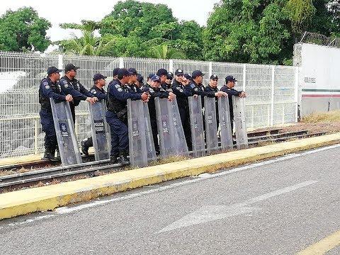 Alta seguridad en la frontera con México