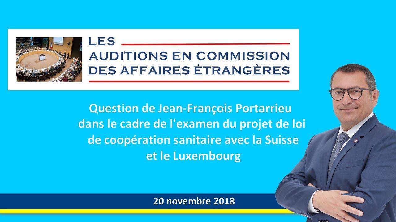 JEAN-FRANCOIS PORTARRIEU - RAPPORT COOPERATION SANITAIRE entre la France la Suisse et le Luxemburg