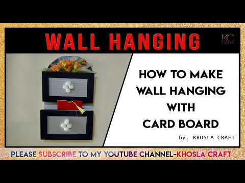 How to make DIY wall hanging with cardboard