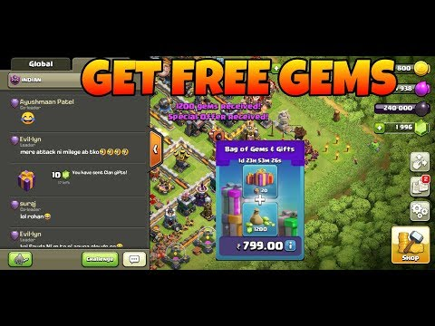 FREE GEMS! Buy Special Pack For My Clan Clash Of Clans (hindi)sam1735
