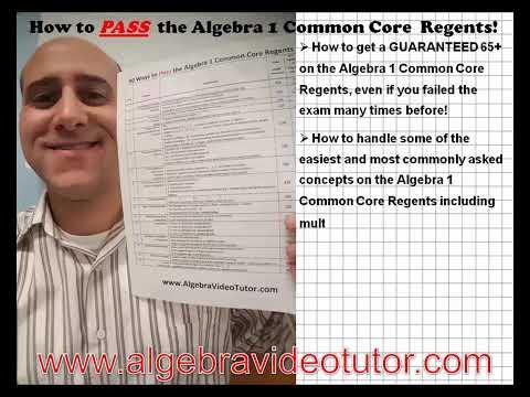 How to Pass the January, 2020 Algebra 1 Regents - YouTube