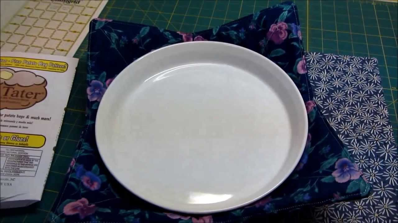 How to make a microwave bowl cozy : microwave plate holder - Pezcame.Com