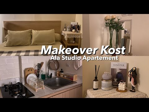 KOST AESTHETIC ALA STUDIO APARTMENT! Room Tour Indonesia + Shopee Finds | Cyn can