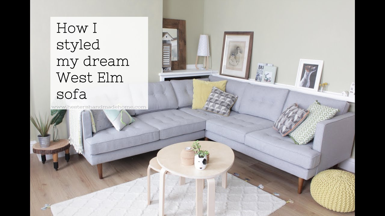 Living room makeover with West Elm - YouTube