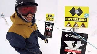 How To Survive a Double Black Diamond - Big Mountain Snowboarding thumbnail