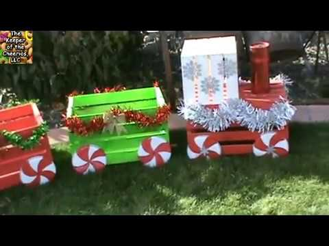 christmas crate train - Decorating Crates For Christmas