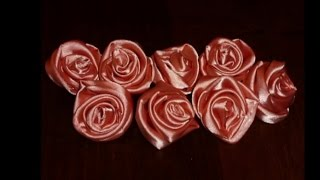 DIY - Роза из Атласной Ткани(Ссылка на плейлист со всеми видео моих ручных поделок https://www.youtube.com/watch?v=3bjBgT5HV0Q&list=PL1694789ABFE4E7A1., 2013-07-24T09:07:28.000Z)