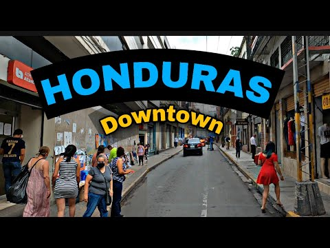 Honduras... DOWNTOWN, Tegucigalpa EL CENTRO! 4K GOPRO  🎥🚔🏚🏣🏤🏪🕌👻