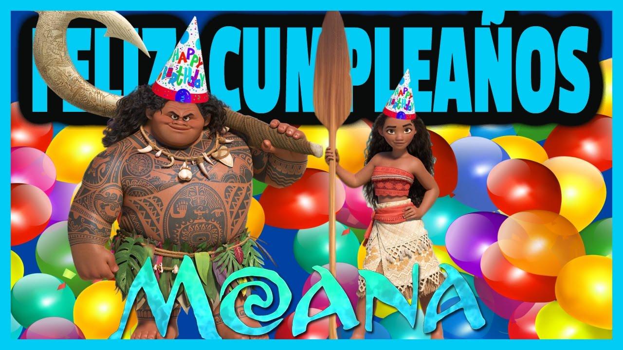 Happy Birthday Moana Disney Feliz Cumpleaños