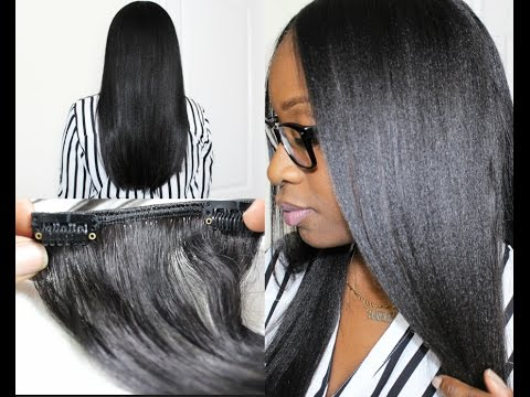 Hairlicious Inc.: Irresistible Me Clip-In Hair Extensions On Relaxed Hair
