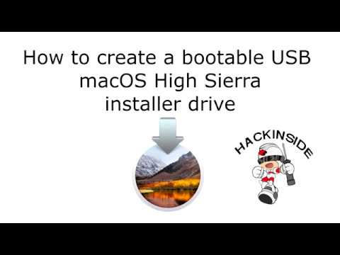 How to create a bootable macOS High Sierra installer drive