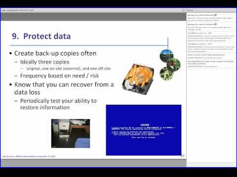 Environmental Data Management Best Practices: Tabular Data
