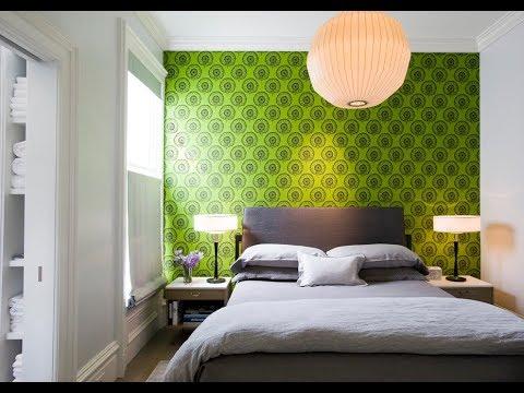 Зеленые обои в интерьере (фото примеры)
