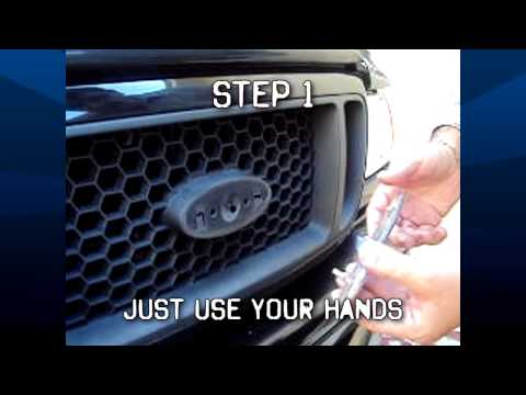 How to install your Ford grille emblem