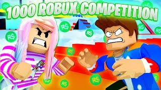 GIRL vs BOY 1000 ROBUX COMPETITION... Roblox