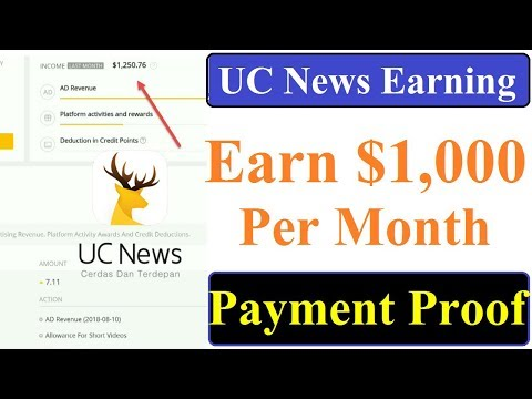 How to Earn 1000$ From monetize Ads in UC News Post | Make Money on UC News Hindi