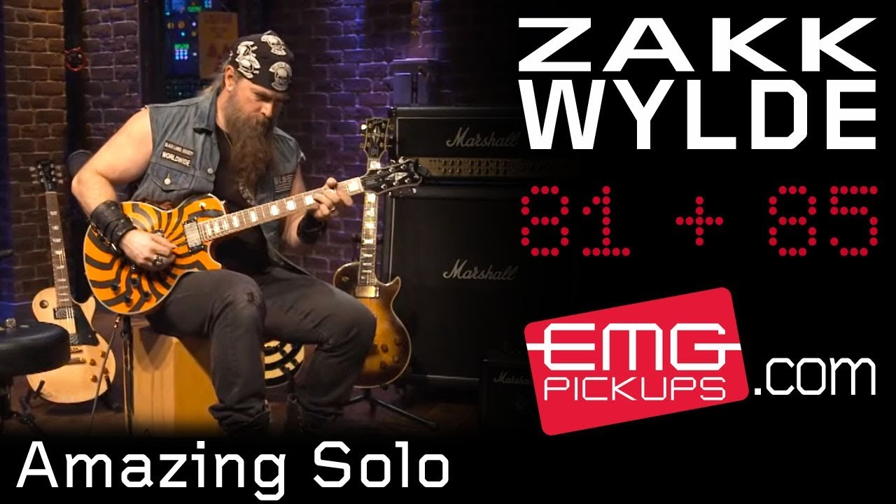 Download Zakk Wylde rips amazing guitar solo over Andy James track, EMGtv