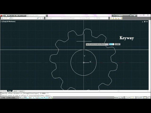 How to draw invoute profiled teeth spur gear