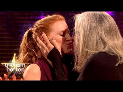 Diane Keaton Kisses Jessica Chastain... and Everyone Else!  The Graham Norton