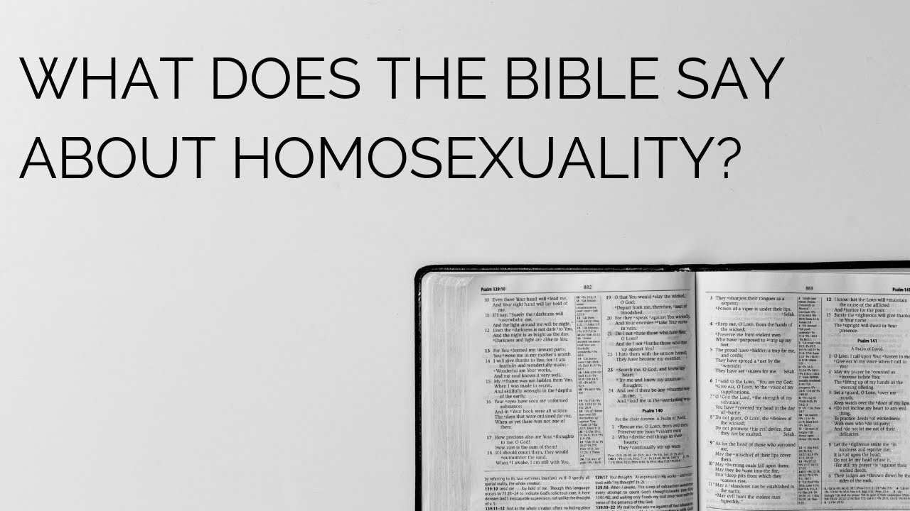 What does the Bible say about homosexuality? - The Christian