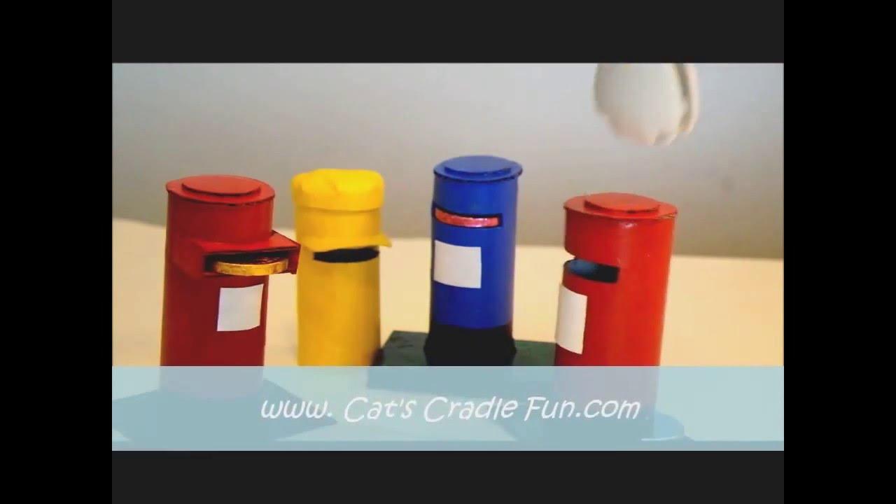 paper roll post crafts - pillar box    mail box