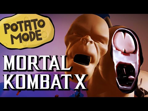 Mortal Kombat X's Ultra-Low Graphics Get Family Friendly | Potato Mode