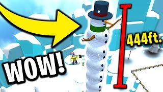 CREATING THE BIGGEST SNOWMAN EVER (Roblox Snowman Simulator)