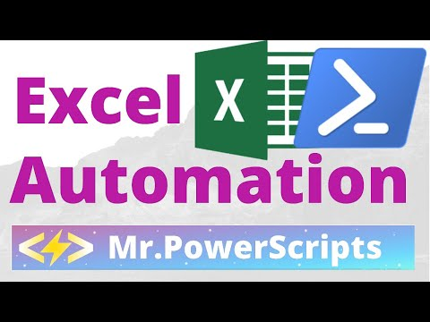 Manipulate Excel Workbooks and Worksheets with Powershell !