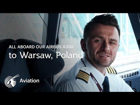 All aboard the Qatar Airways Airbus A350 to Warsaw, Poland