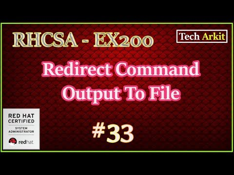 Standard Input, Output and Error Redirection - RHCSA - Tech