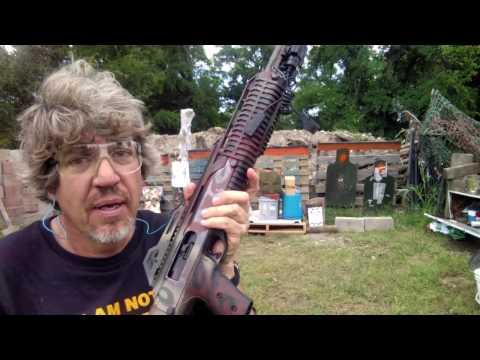Armor Defeated by pistol ammo carbine.  Hi-Point 4095 Civil Defense Liberty Ammunition.