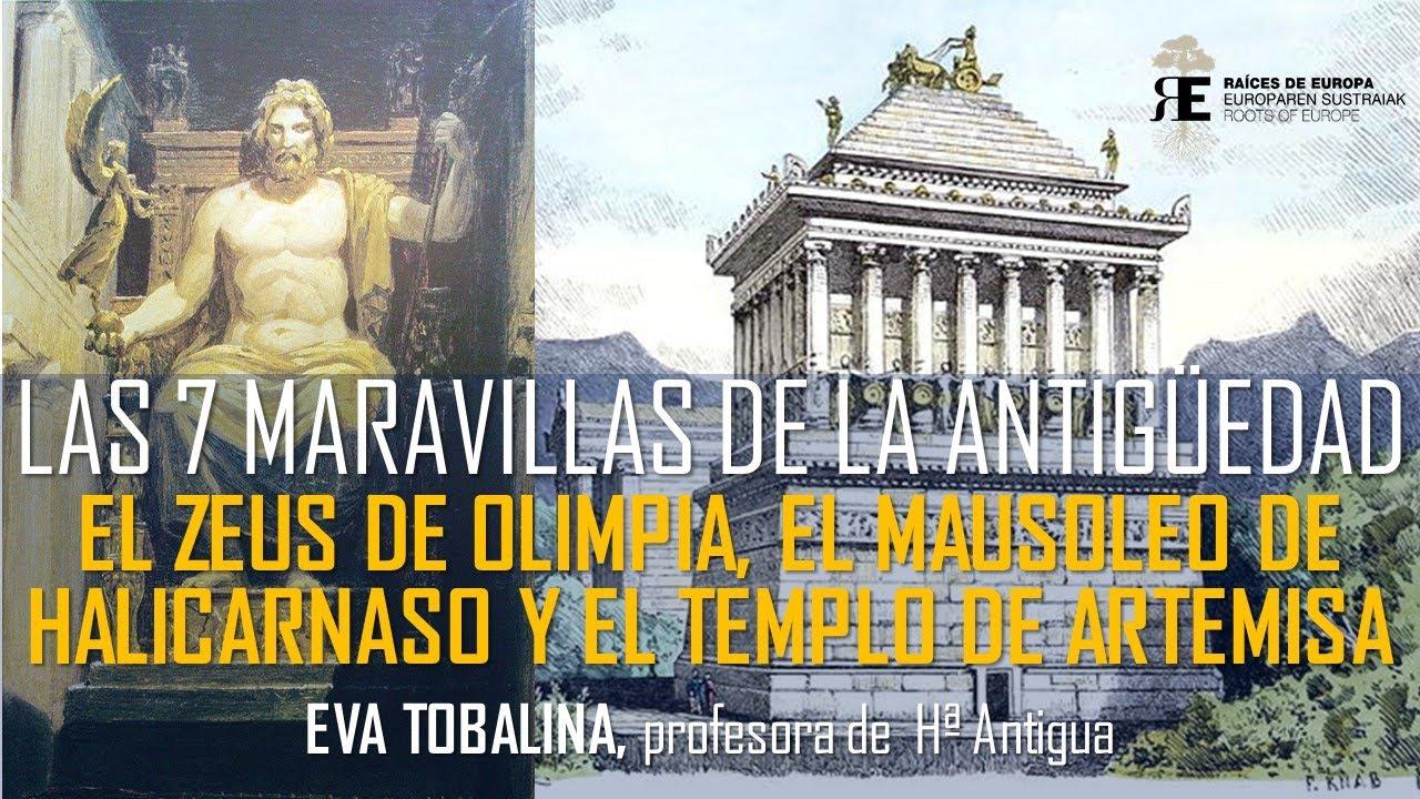 Maravillas de la Antigüedad (II).  El Templo de Artemisa en Efeso y la Estatua de Zeus en Olimpia