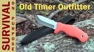 Old Timer Outfitter Full Tang Knife for Under $20 - Survival Gear