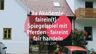 """ila Akademie """"Spiegelspiel mit Pferden"""" faireint fair handeln"""