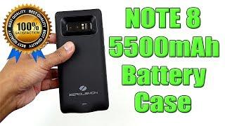 Samsung Note 8 5500mAh Battery Case (ZEROLEMON) [4K]