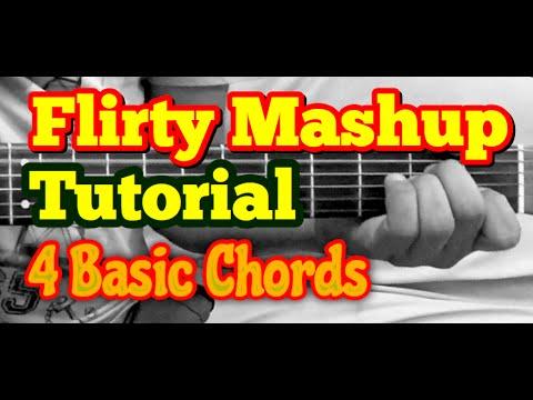 Flirty Mashup Guitar Lesson | 7 Bollywood/Hindi Songs Mashup/Medley | 4 Open Chords