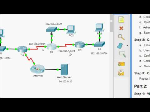 3.2.1.8 Packet Tracer - Configuring RIPv2