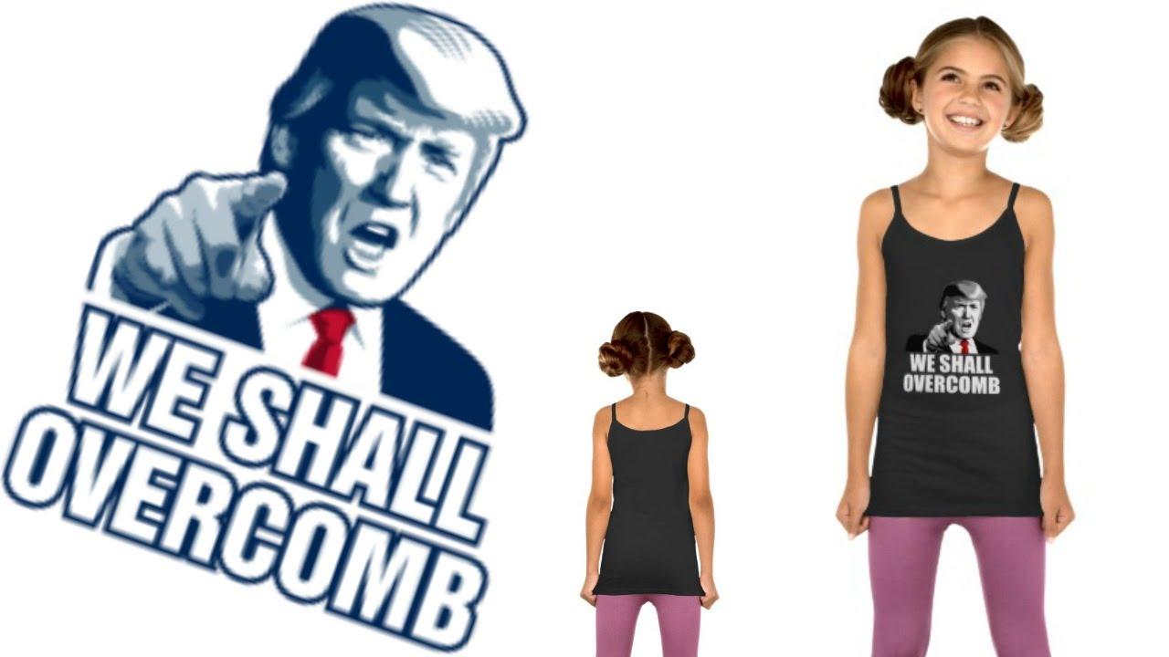 e1a05cfc Funny Donald Trump for President Shirt Girls' LAT Sportswear Spaghetti  Strap Tank Top