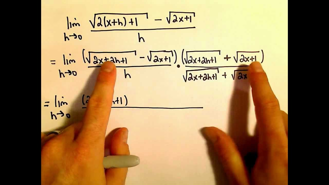 Derivative Of Root Function Using Definition Of A Derivative Youtube