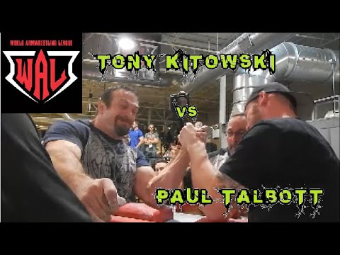 Armwrestling 2016 | WAL Northern Regional | Tony Kitowski vs Paul Talbot Left Hand FINAL
