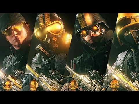 Rainbow Six Siege Pro League Gold Sets Gameplay Weapon Skins, Headgear, Charms Ash Bandit Thermite