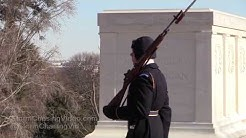 Sub Zero Temps At Tomb Of The Unknown Soldier - 1/5/2018