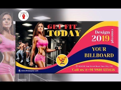 Flex Design In Coreldraw Billboard Design Beauty Parlour Banner Hindi Video Tutorial