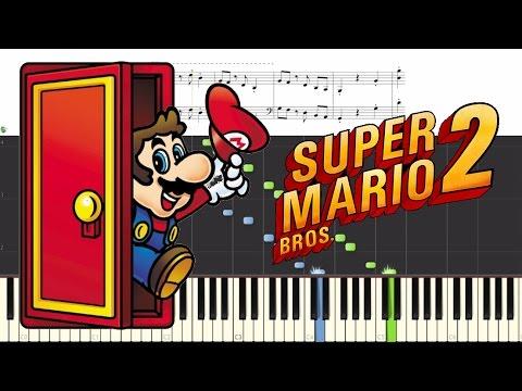 Super Mario Bros  2 - Title Theme (Synthesia/Sheet Music)