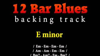 Slow blues backing track in E minor for guitar solo (12 bar blues)