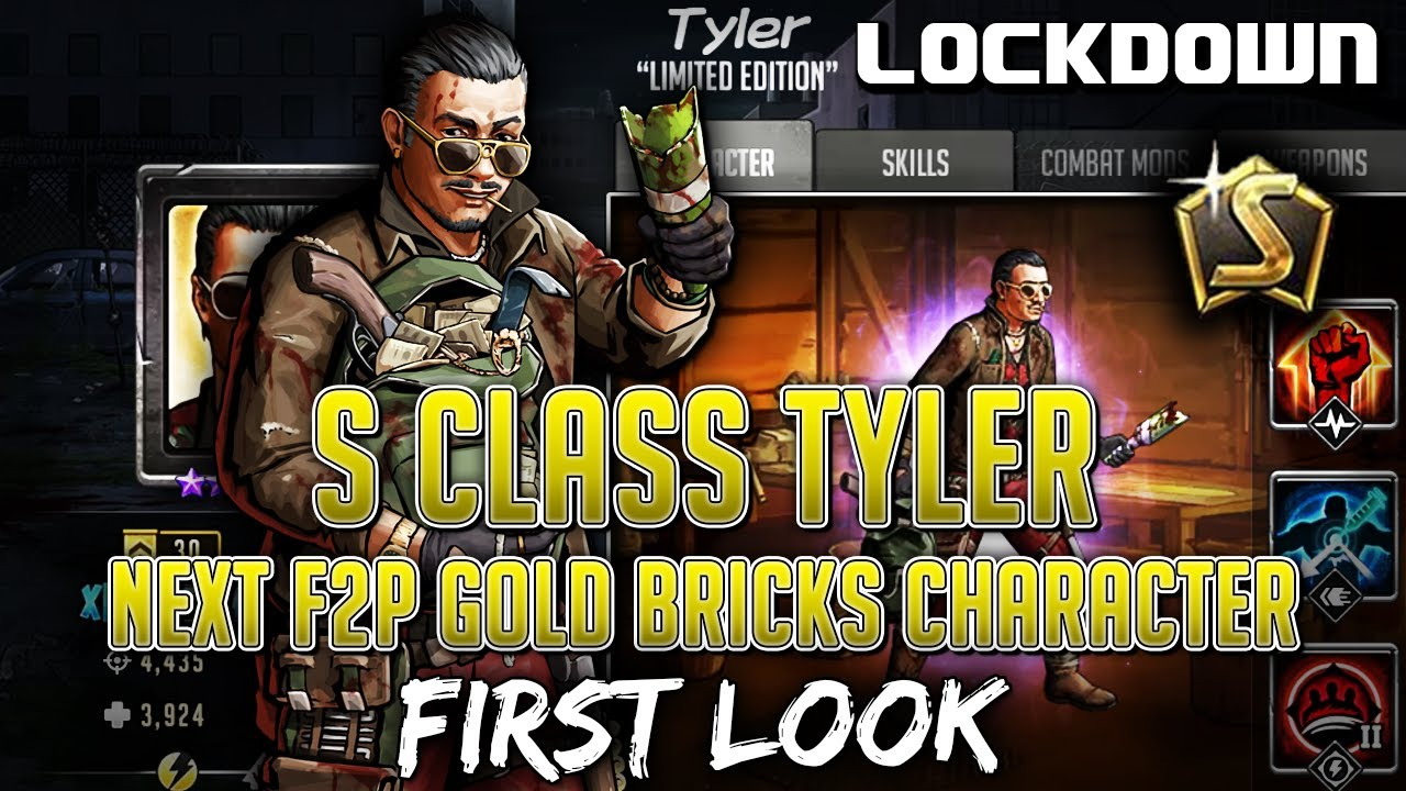 TWD RTS: S Class Tyler, Next F2P Gold Bricks Character - The Walking Dead: Road to Survival Leaks