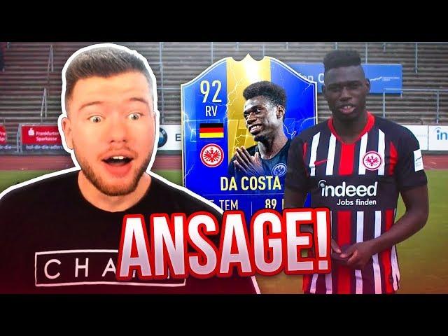 DANNY DA COSTA reagiert auf meine ANSAGE 😱😱 FUSSBALL CHALLENGE